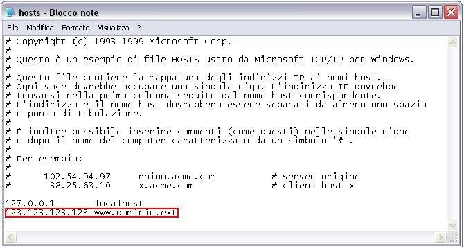 Come utilizzare il file Host